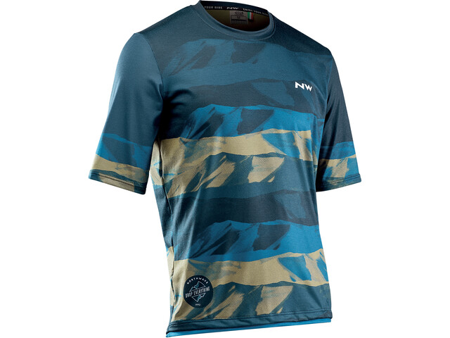 Northwave Xtrail MTB Jersey Korte Mouwen Heren, blue/khaki